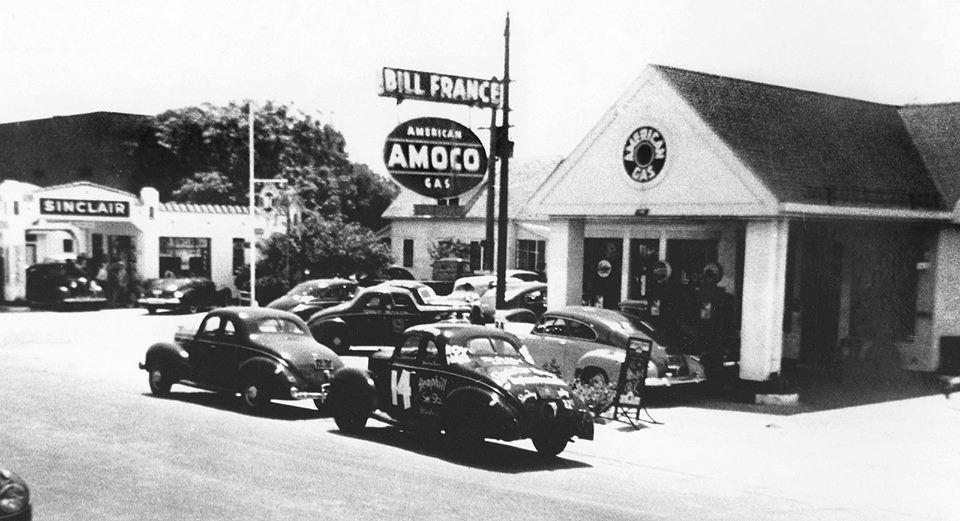 The Birthplace of NASCAR . .Bill France's AMOCO Station