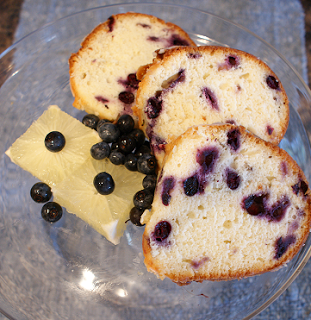 Lemon Blueberry Poundcake- dense & fruity, RECIPE!