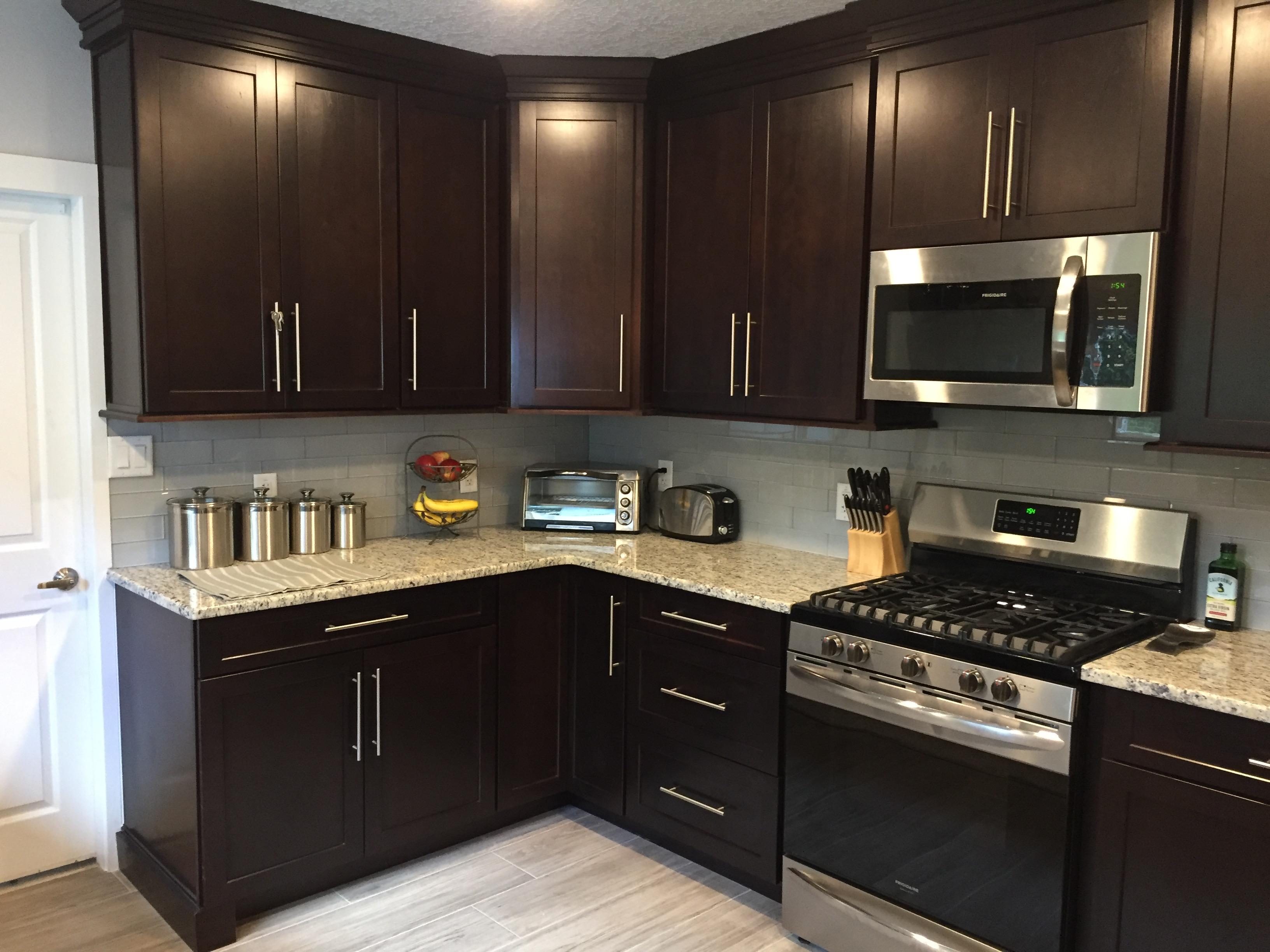 Stetson Project Granite Countertops Kitchen Kitchen Remodel Shaker Kitchen Cabinets
