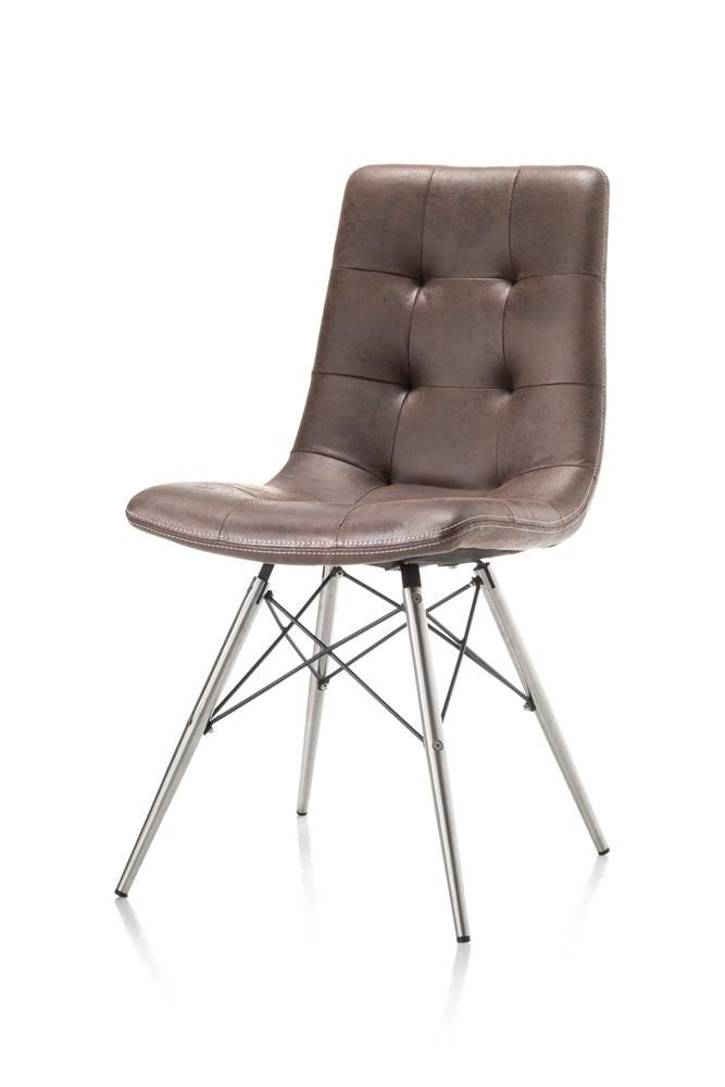 chair alegra with stainless steel frame, available in leather or, Esszimmer dekoo