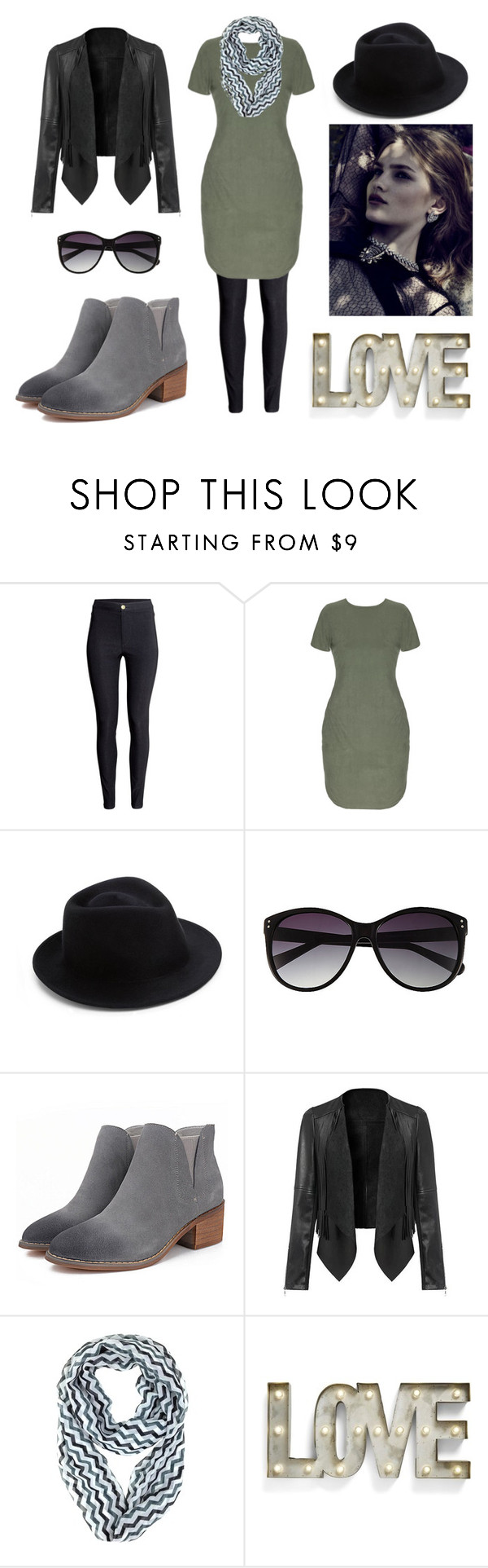 """""""Ombre Ankle Booties"""" by aowens99 ❤ liked on Polyvore featuring H&M, Eugenia Kim, Vince Camuto and Creative Co-op"""