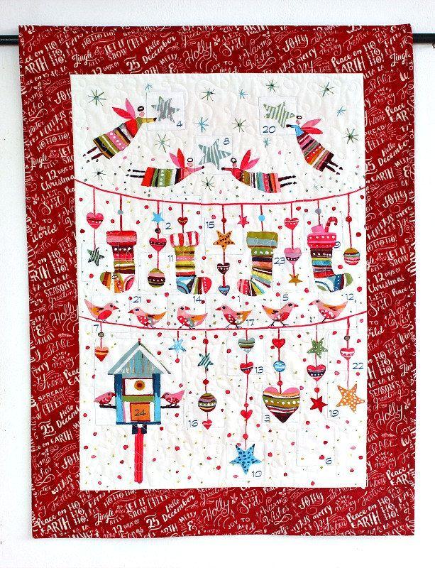 Advent Calendar, Quilted Christmas Wall Hanging, Fabric Calendar - activity calendar