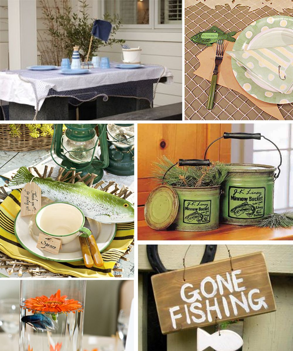 Fishing Wedding Ideas: Modern Country Designs: Fishin Country: Fishing Theme