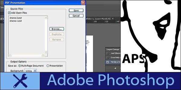 Create multi page pdf photoshop