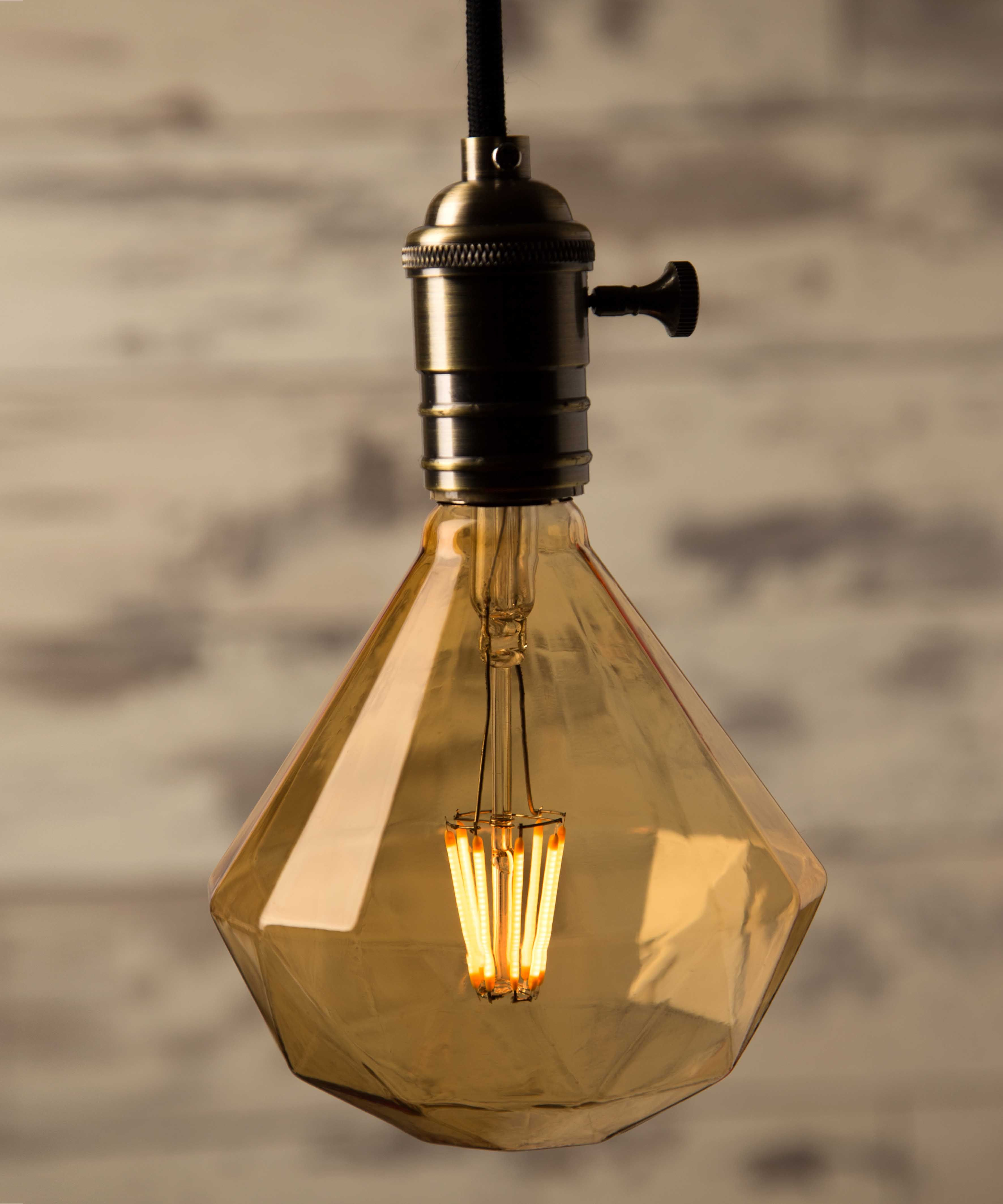vintage looking lighting. led soft diamond 4l william and watson vintage edison bulb industrial light 3w looking lighting