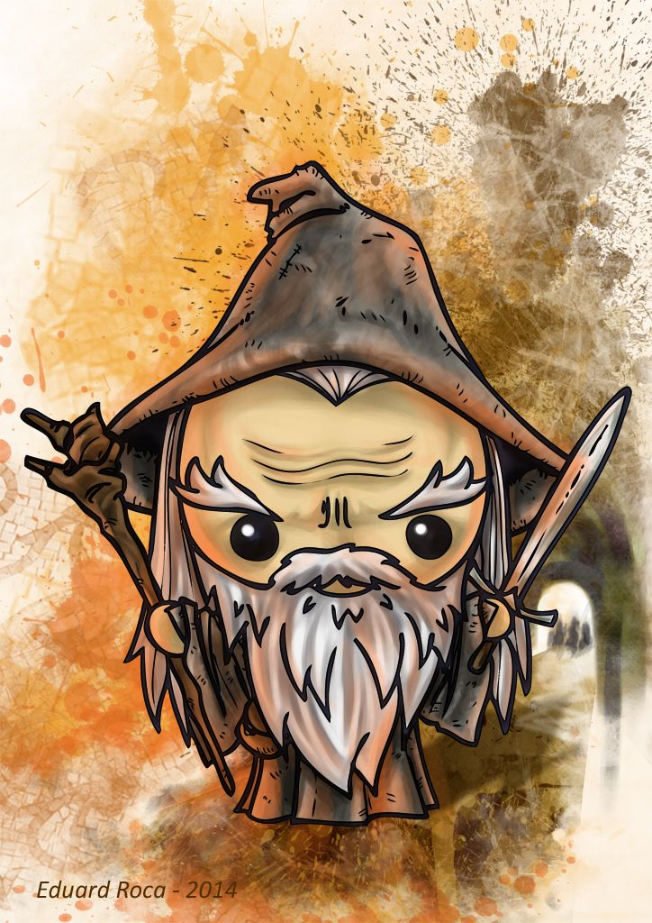 Gandalf el Gris #lord_of_the_rings #kawaii #cute #gandalf   Middle ...