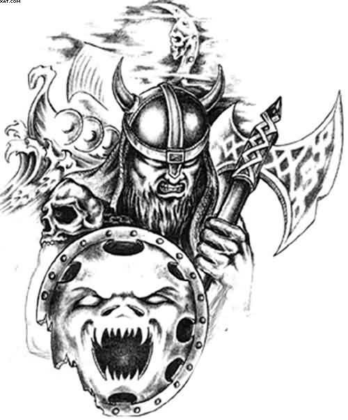 Scottish Warrior Tattoos: Angry Celtic Warrior Tattoo Designs