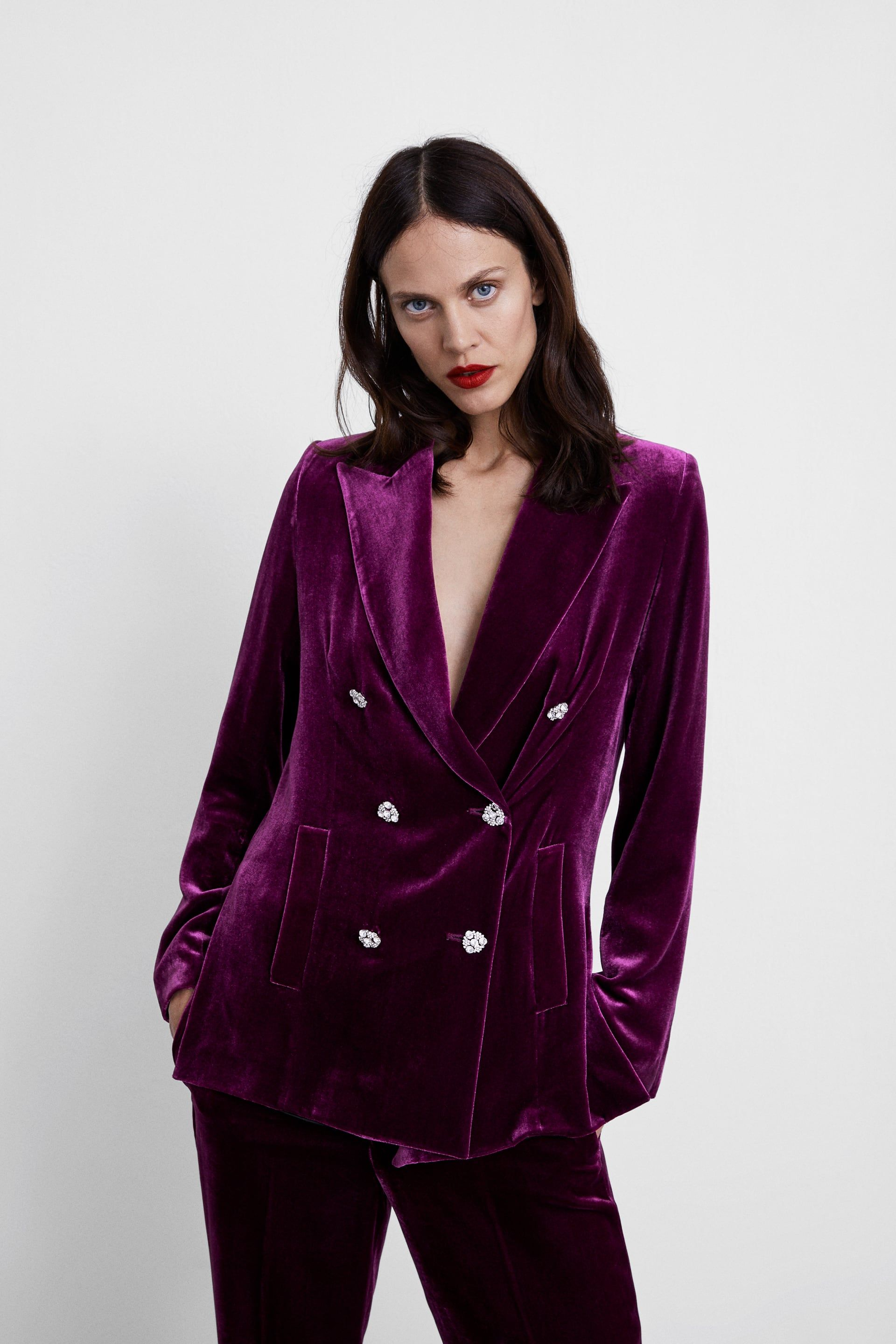 ddc99249 Image 2 of VELVET JACKET from Zara | Fl2018 retail blazers | Velvet ...