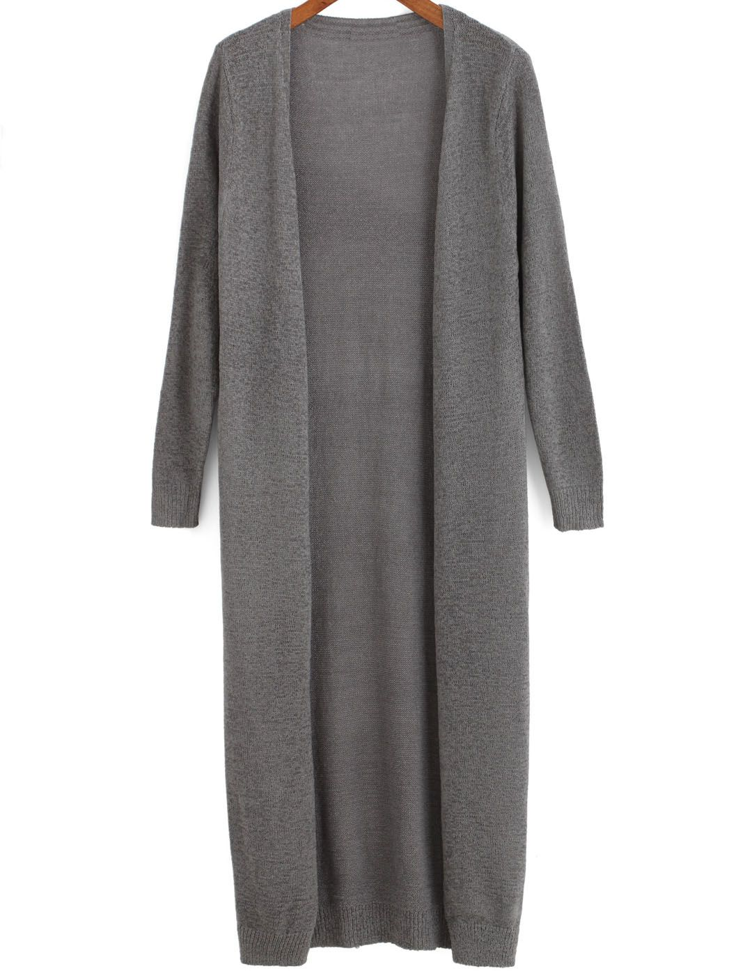 Shop Grey Long Sleeve Loose Knit Cardigan online. SheIn offers Grey Long  Sleeve Loose Knit Cardigan   more to fit your fashionable needs. 8236a0d99