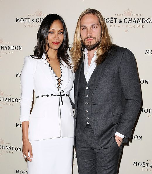 Zoe Saldana And Marco Perego Attend The Moet Chandon Toast To Honor Brand Ambador Roger Federer S History Making Career Win At Four Seasons Hotel Los