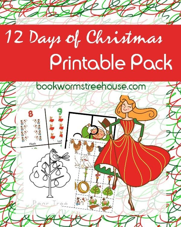 Free 12 Days of Christmas Printable Pack | Christmas printable activities, 12 days of christmas ...