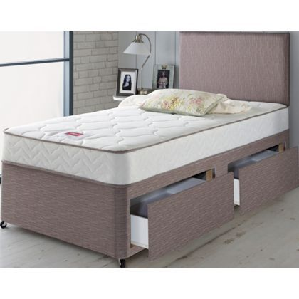 Airsprung Alana Memory Single 2 Drawer Divan Bed. at Homebase -- Be ...
