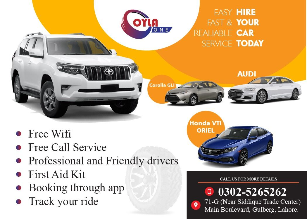 Oyla One Provides You The Best Car Services In Lahore Free Wifi