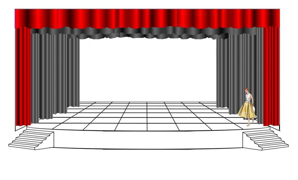 Theater stage design template