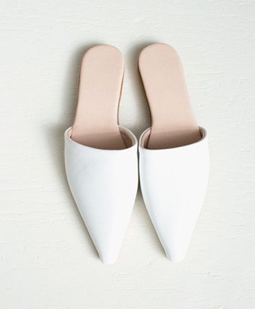 Brother Vellies White Sister Mule