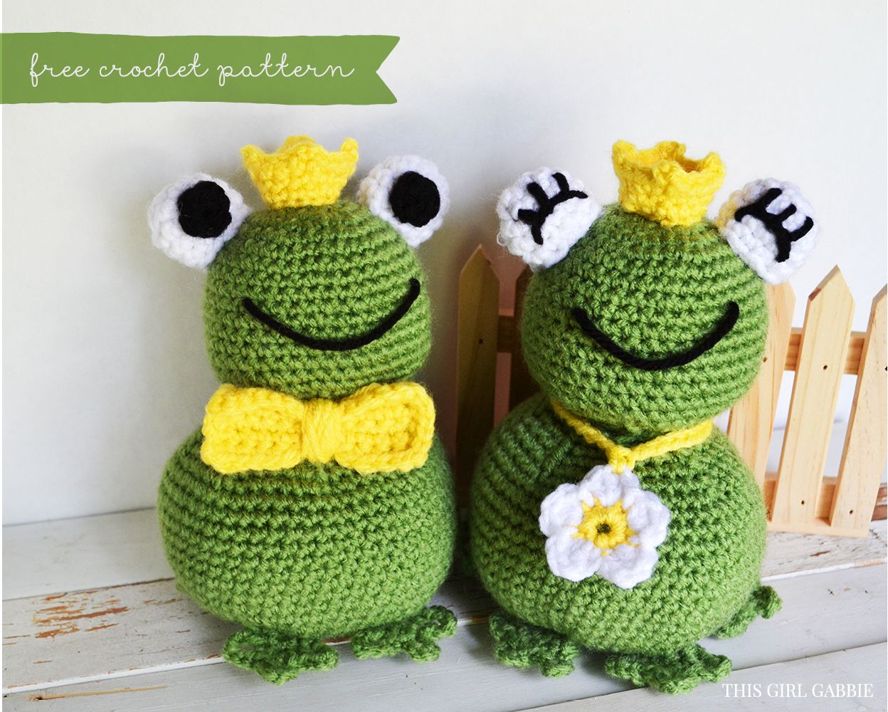 Free Crochet Pattern: Amigurumi Frog Prince and Princess | This Girl ...