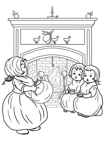 Polly Put The Kettle On Nursery Rhyme Coloring Page Free Printable Coloring Pages Nursery Rhymes Nursery Paintings Coloring Pages