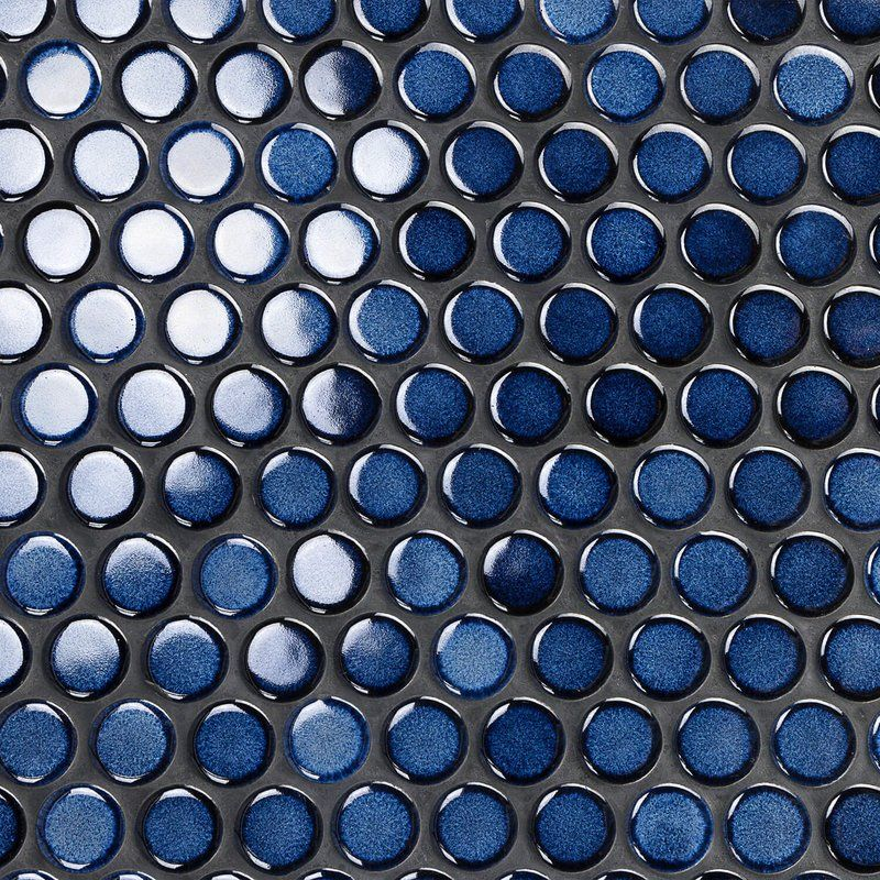 Joy Rimmed 1 X 1 Ceramic Mosaic Tile In Sapphire Ceramic Mosaic Tile Mosaic Tiles Ceramic Tiles
