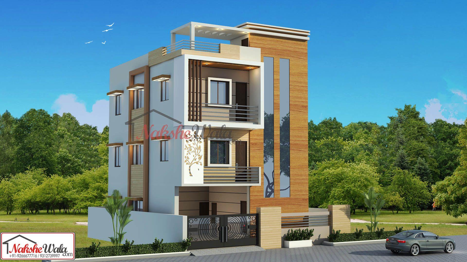 Triple Storey Elevation Duplex House Design House Design Indian Home Design
