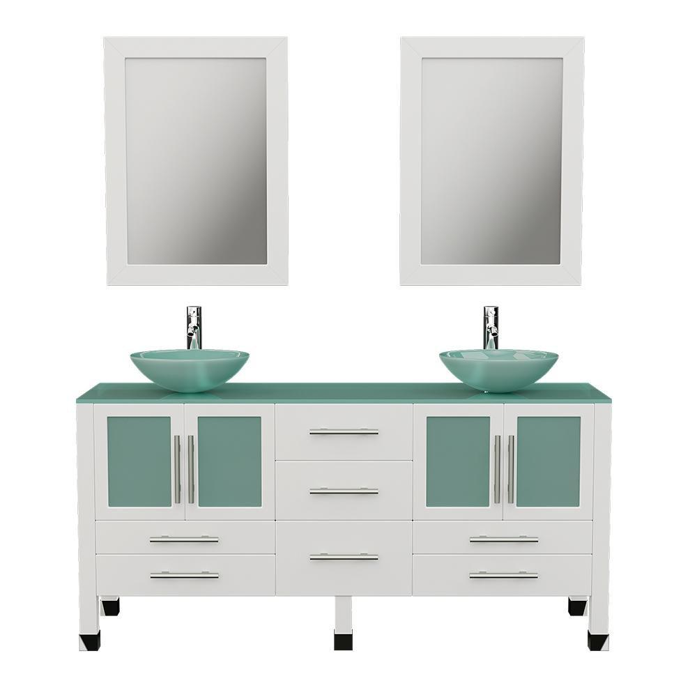 Flash Sale Cambridge Plumbing 63 Double Sink Bathroom Vanity Set