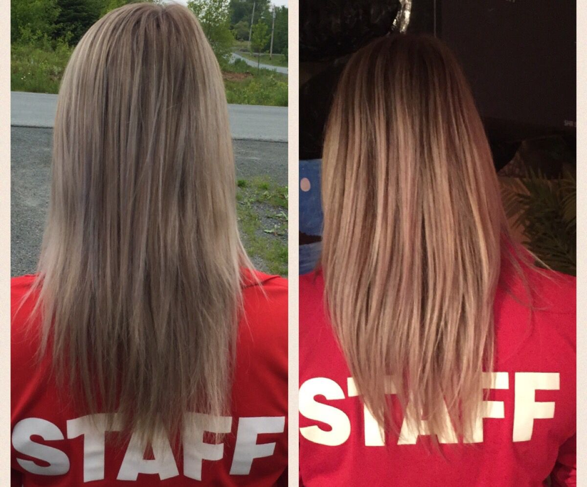 Sugar Bear Hair Before and After photo. These are 2 months