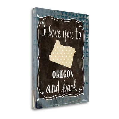Tangletown Fine Art 'Oregon and Back' by Katie Doucette Textual Art on Wrapped Canvas