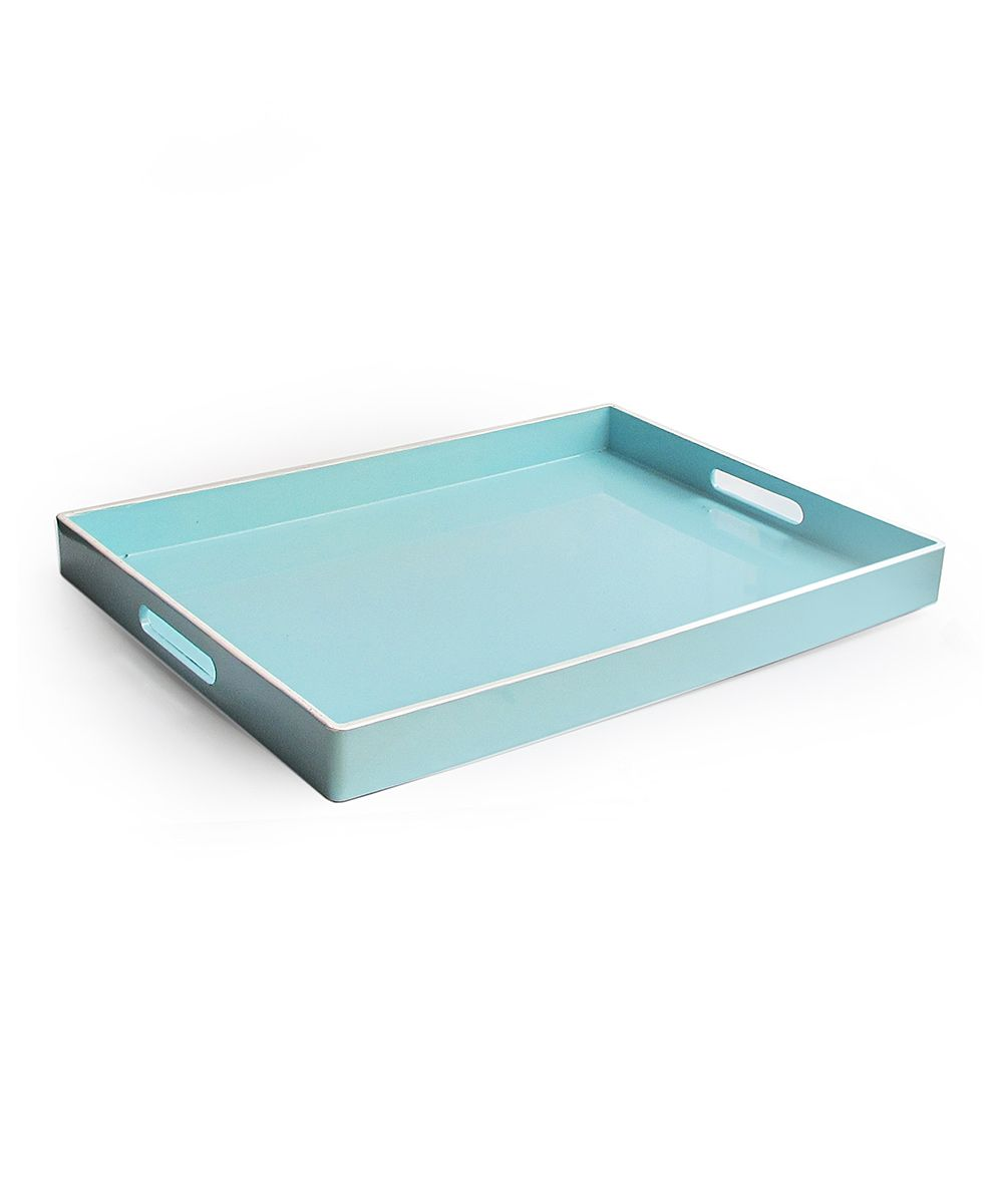 Blue Rectangular Tray