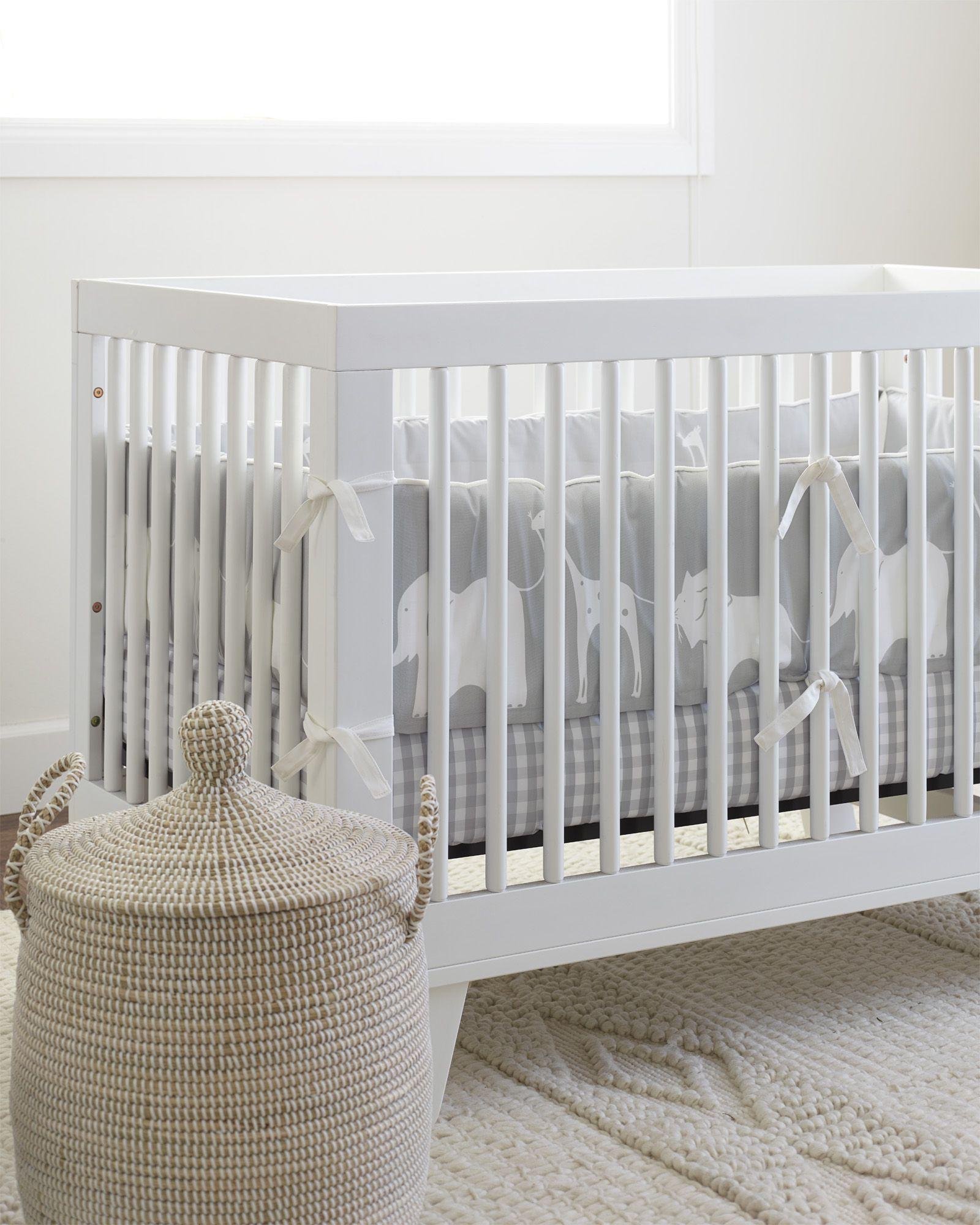 A Fun Way To Design Your Gender Neutral Nursery Gingham Crib Sheet Via Serena Lily