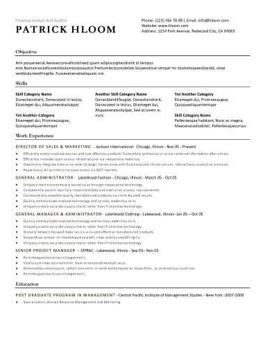 Economic Resume Template  Resume Suggestions    Sample