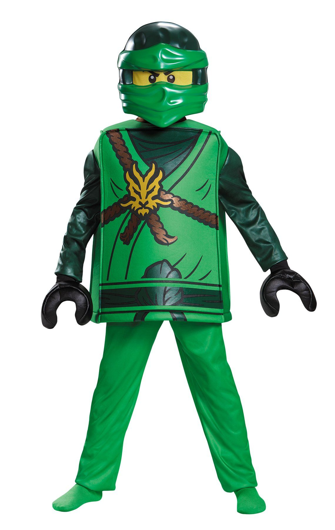 Lego Lloyd Ninjago Deluxe Kids size M 7//8 Costume Outfit Licensed Disguise