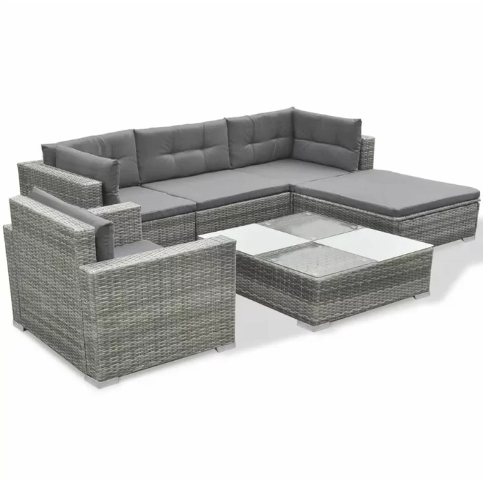 Rosenbaum Garden 6 Piece Rattan Sofa Seating Group With Cushions With Images Outdoor Sofa Sets Outdoor Patio Furniture Sets Rattan Furniture Set