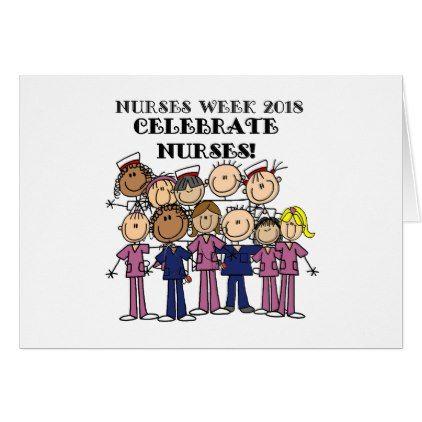 Celebrate Nurses Week 2018 Stick Figure Nurse Card | Nurses week