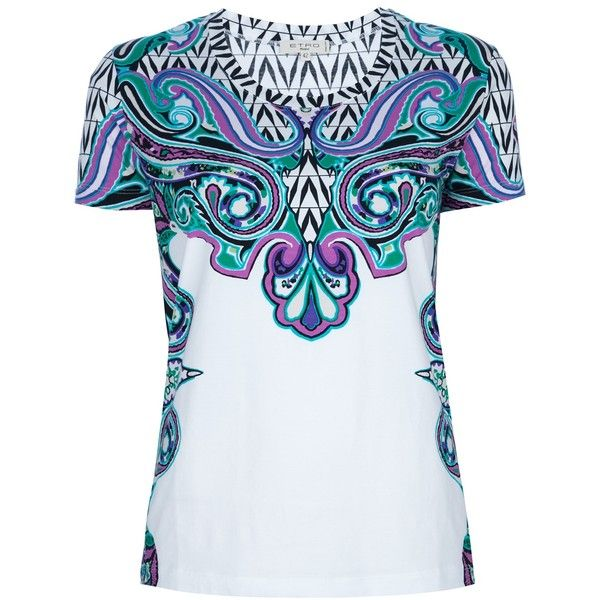 ETRO stain glass print t-shirt ($285) ❤ liked on Polyvore