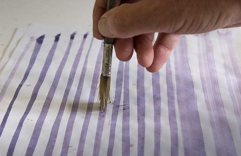 Drawing Straight Lines With Brush In Photo : Drawing straight lines with a bristle brush artsy: watercolors