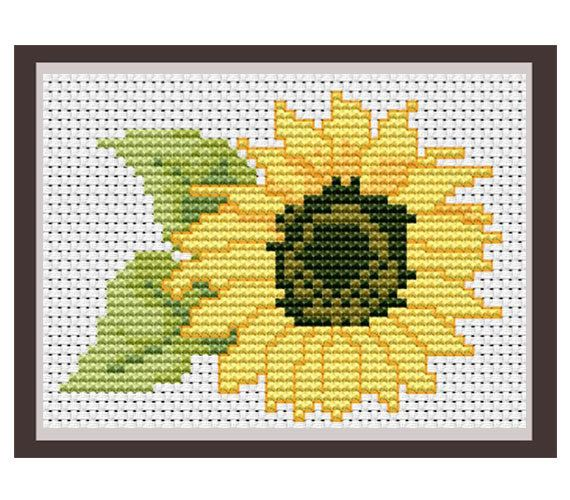PDF Instant Download. Sunflower Counted Cross Stitch Pattern. Nature. Decor Pattern.