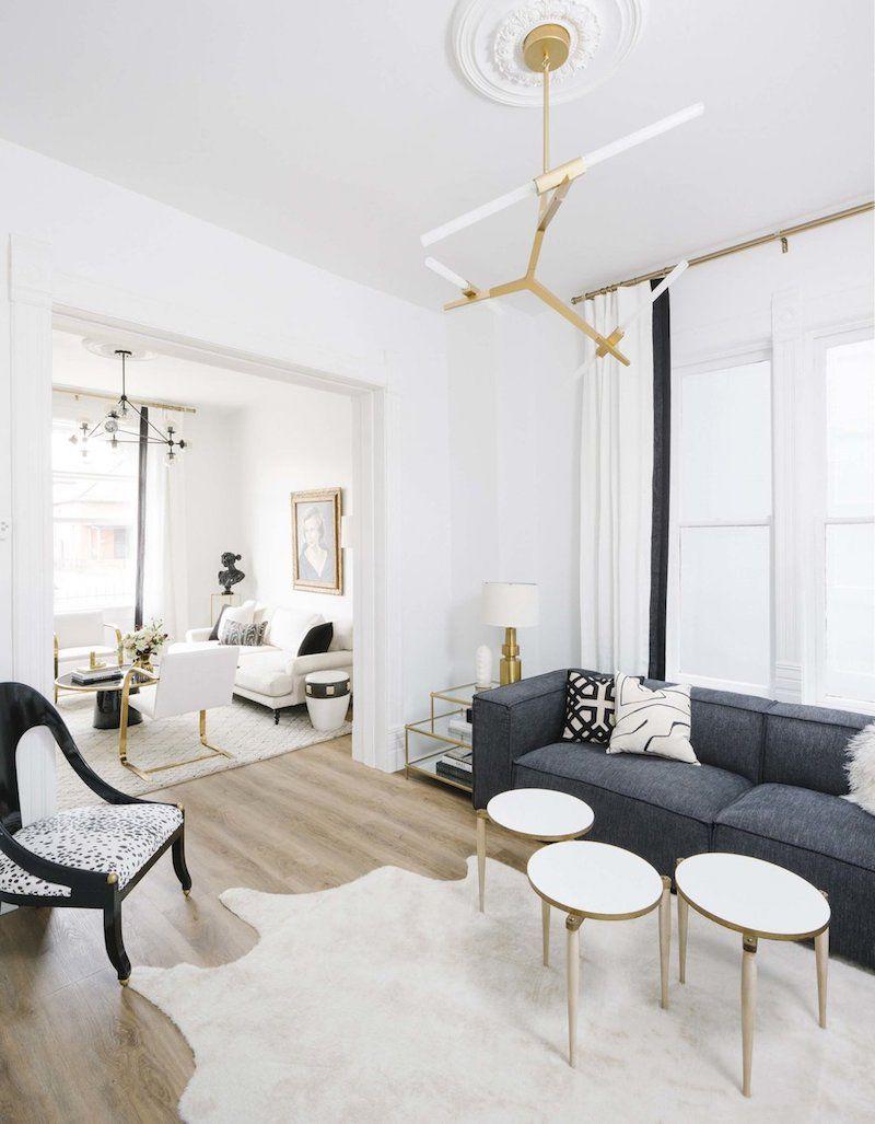 A Denver Designer S Sophisticated Modern Apartment Cowhide Rug Living Room Home Decor Rugs In Living Room