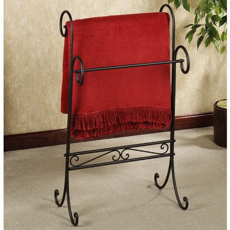 Messina Blanket Rack Antique Mahogany In 2019 Blanket Rack