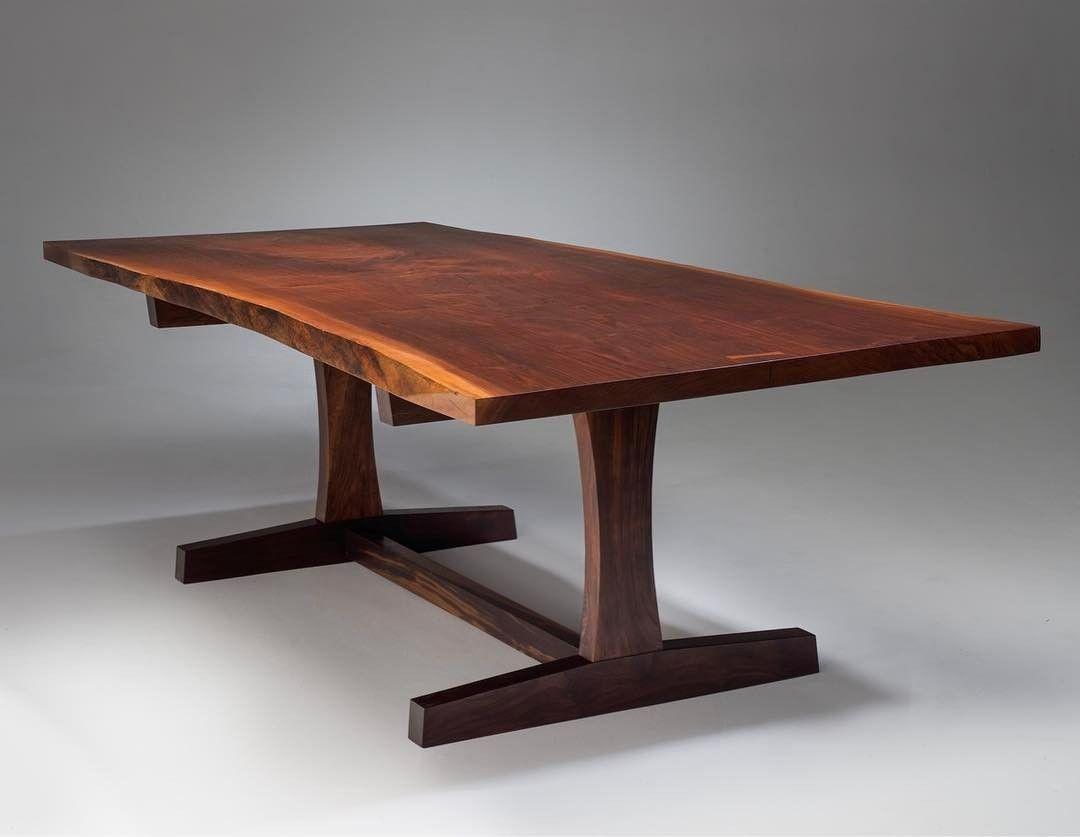 The Recent Nakashima Inspired Table Black Walnut On Claro Walnut