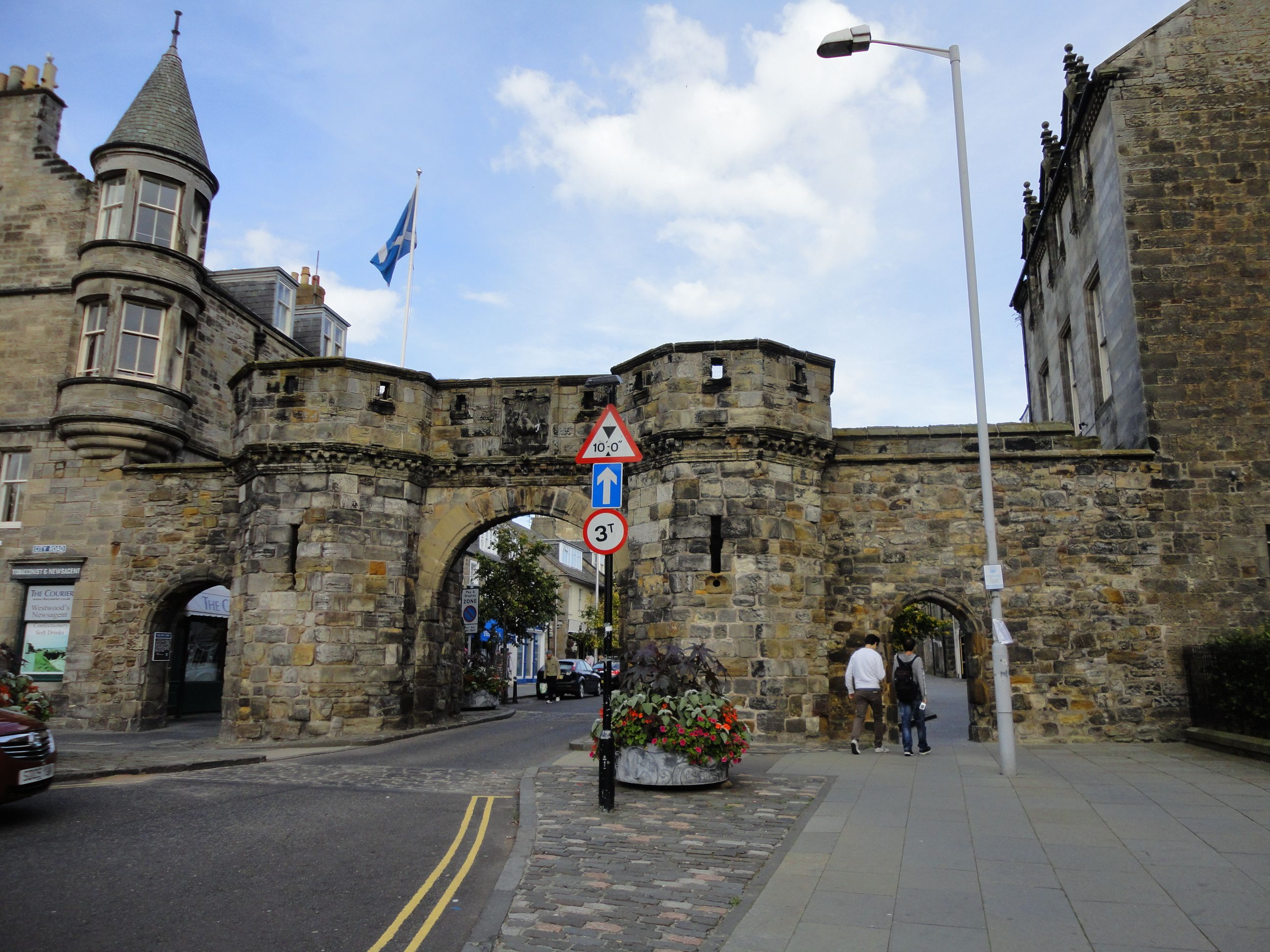 Entrance to St. Andrews in Fife, Scotland