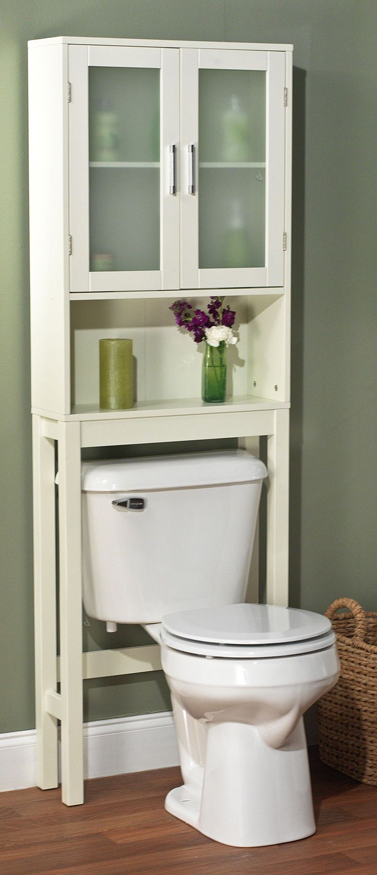Bathroom space saver // over-toilet cupboard, such a good ... on Nice Bathroom Designs For Small Spaces  id=50475