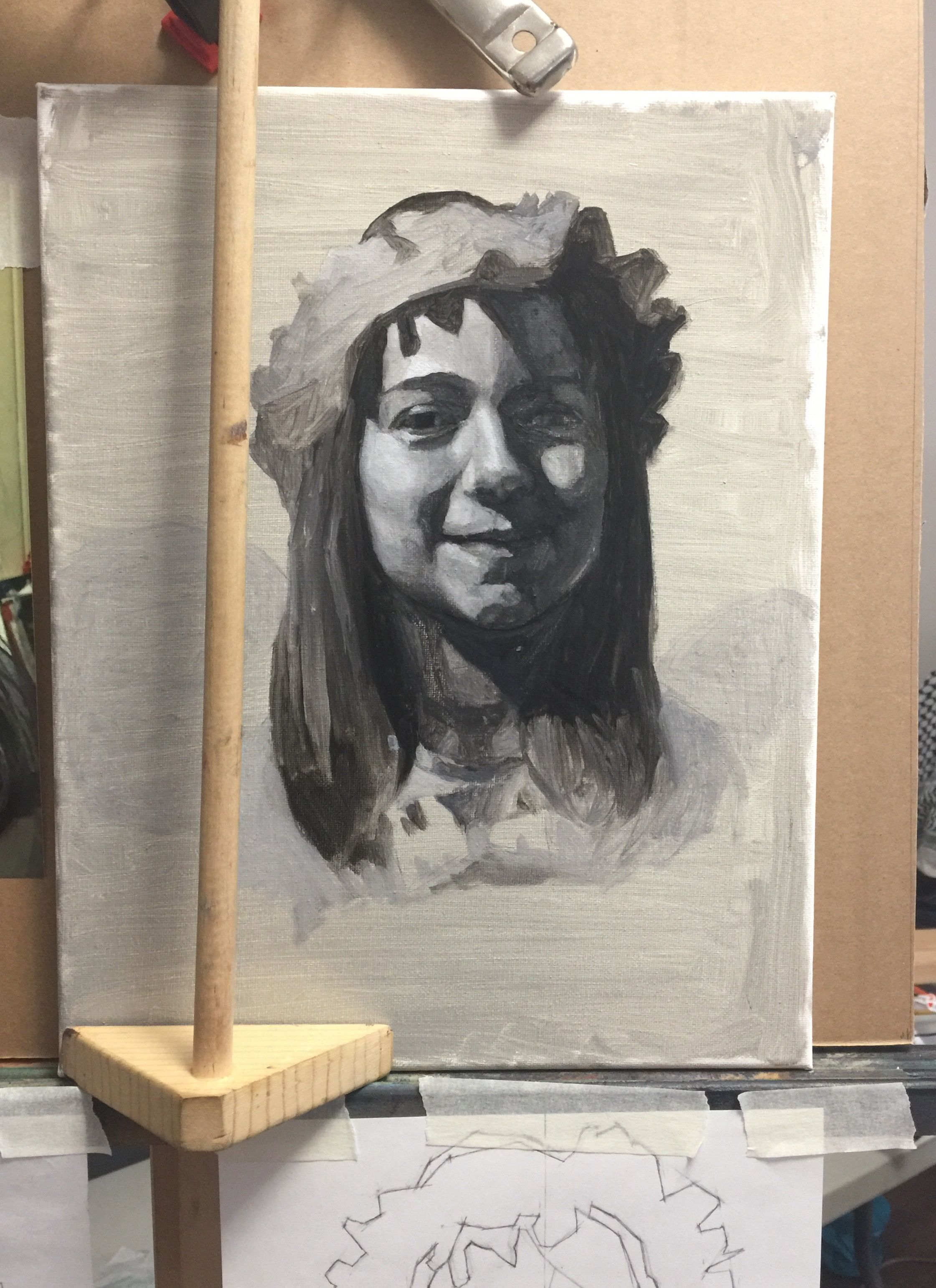 Oil painting of my daughter wip