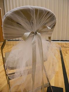DIY Tulle Chair Covers Could Hopefully Cover All Chairs For Under Fifty Bucks