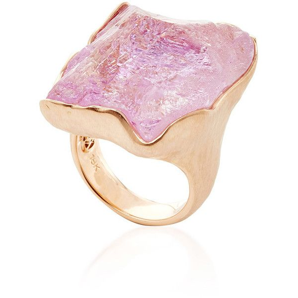 Jorge Adeler One of a Kind 18K Rose Gold and Raw Kunzite Ring 7885