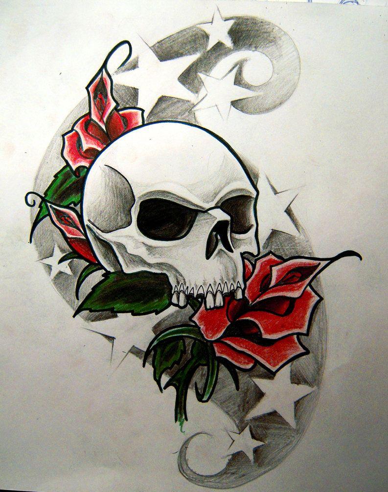 Stars And Skull Tattoos Google Search Skull Art Skull Skull Tattoos