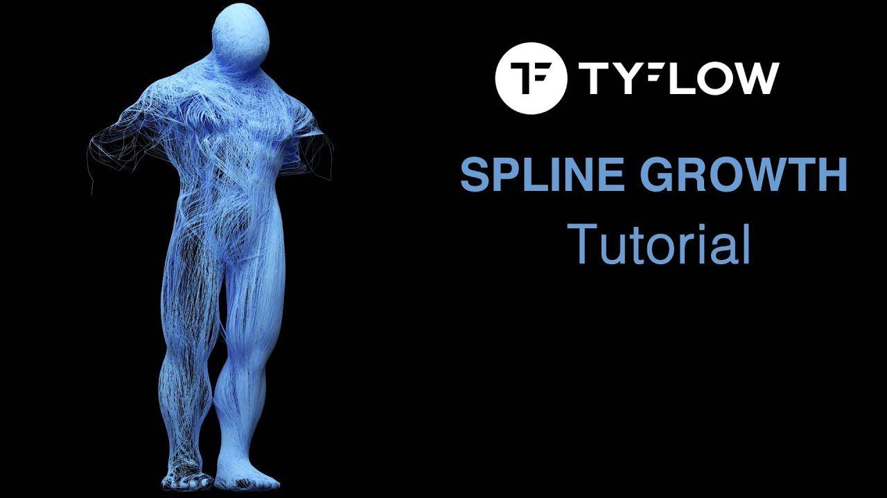 tyflow - tutorial Spline Growth Effects in 2020 | Tutorial