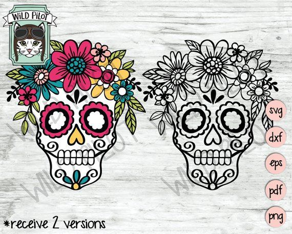 Pin By Supzz Roy On Cute Elephant Drawing In 2021 Sugar Skull Svg Skull Svg Sugar Skull