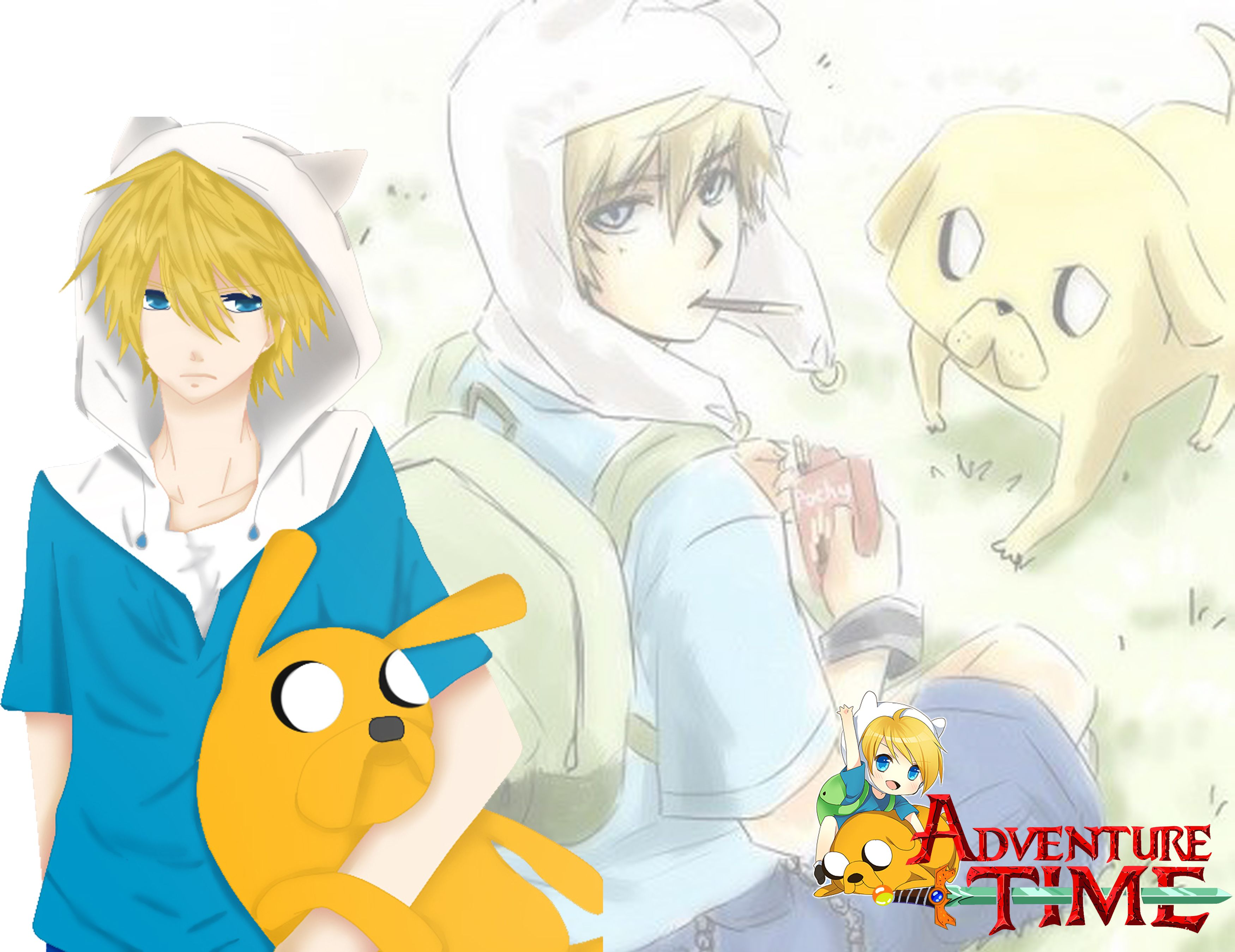Finn and jake anime adventuretimewithfinnandjake