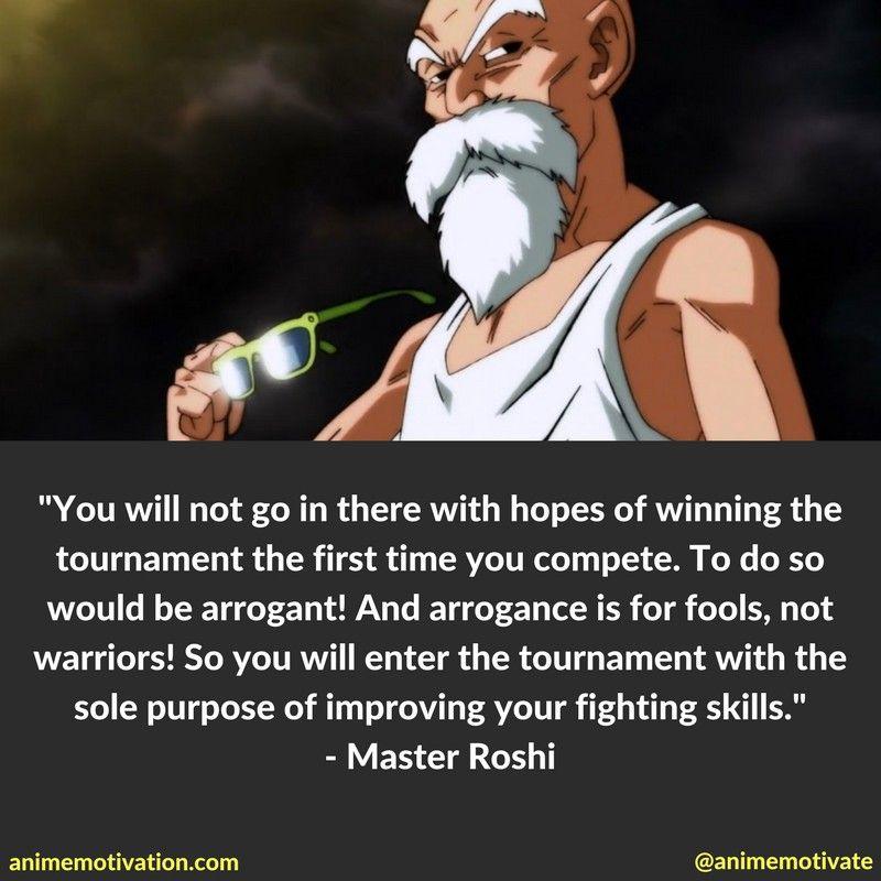 Master Roshi Tournament Quotes Dragon Ball Chastity Captions