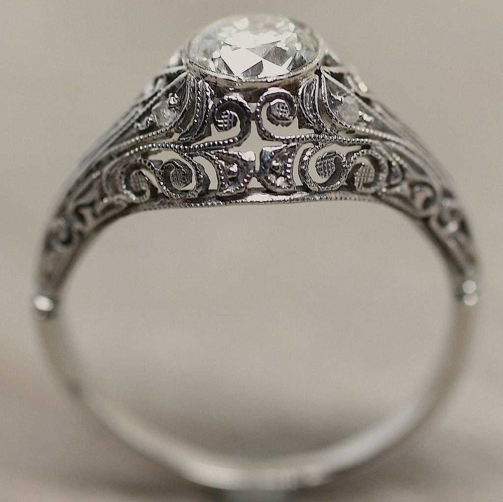 Antique Engagement Rings 1900 Low Profile Home Ring Circa 18k