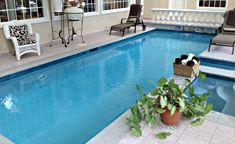 #aquaBRIGHT Pool Finish brings this Pool area together!